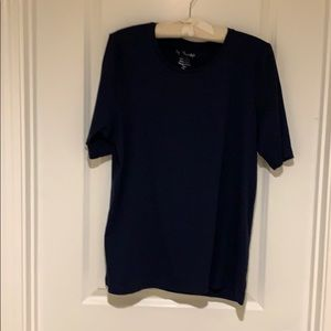 Navy tee from Chico's.